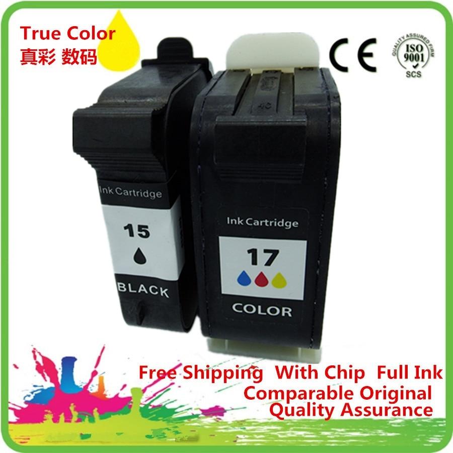 Ink Cartridges Remanufactured For 15 17 XL HP15 HP17 15XL 17XL C6615A C6625A Deskjet 816c 825c 840c 841c 842c 843c 845c