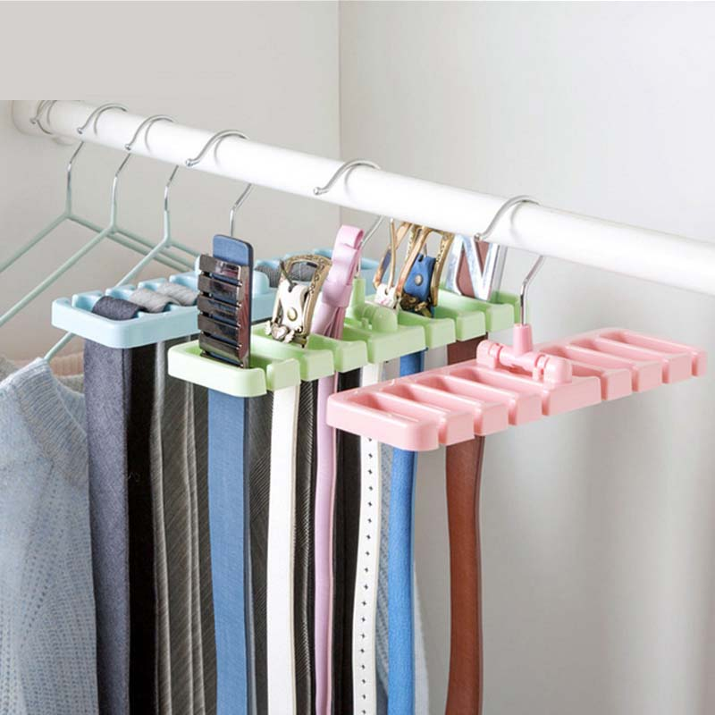 LASPERAL 1PC Storage Rack Space Saver Tie Belt Wardrobe Organizer Hanging Rack Hanging S ...