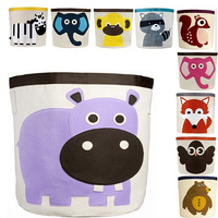 Large Capacity Cute Baby Toys Storage Canvas Bags Animal Pattern Laundry Bag Pouch Baby Kids Toys