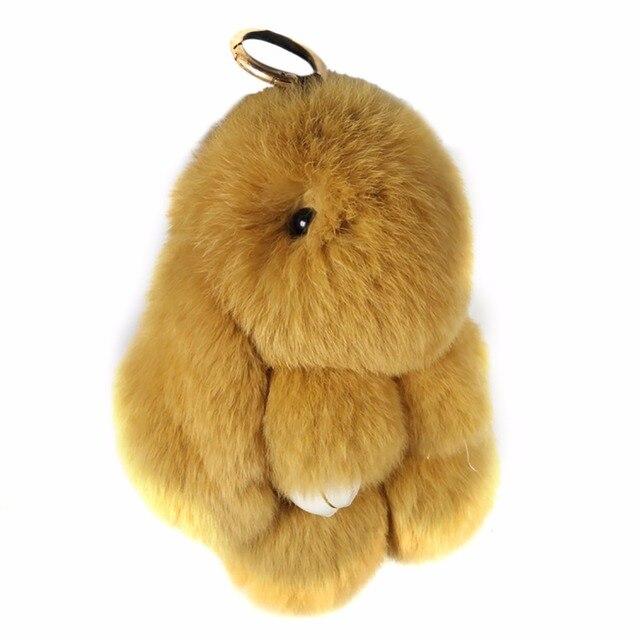 Cute Genuine Rex Rabbit Plush Toy Pendant Key-chain Bag Car Charm Tag Mini Rabbit Furs Toys Doll