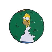 Эмалированная заколка в форме Симпсона