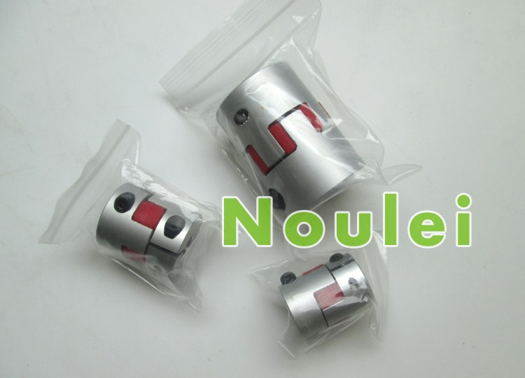 OD 40x55mm plum rubber jaw spider type casal plastic shaft coupling 4mm to 14mm clamp for 14 mm motor luz casal cap roig