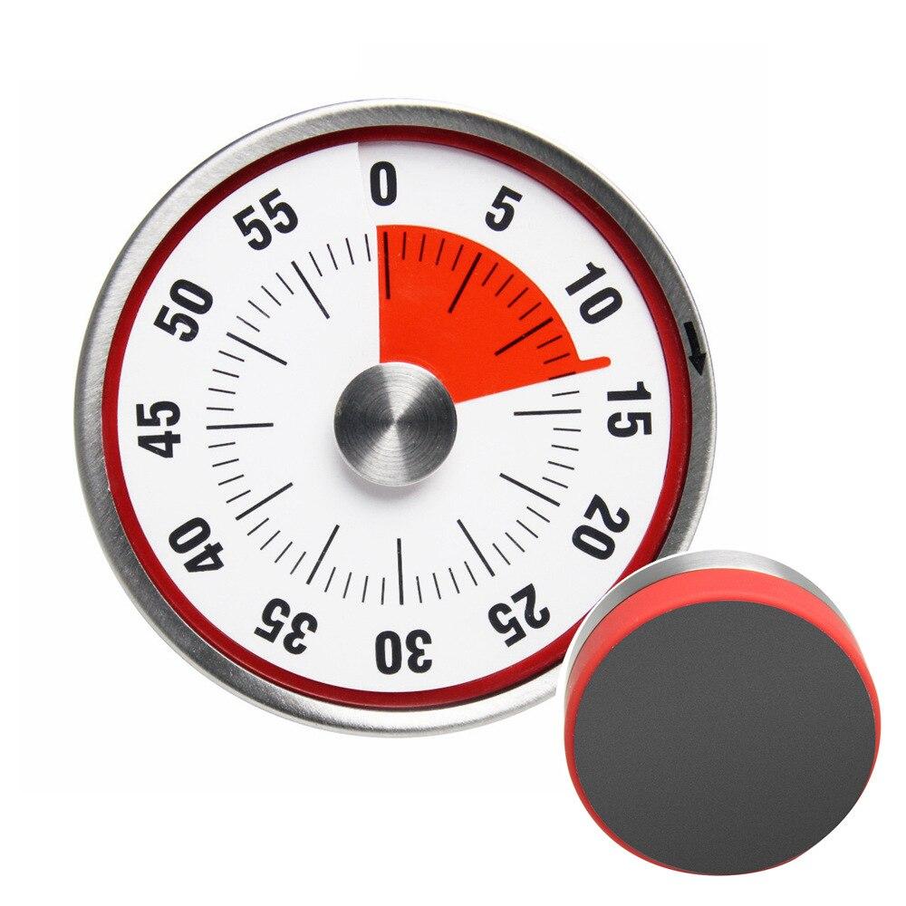 Mechanische Kookwekker Roestvrij Staal Koken Wekker Teller met Magnetische BBQ Bakken Herinnering Handleiding Countdown