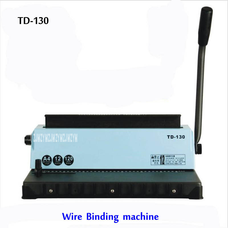 A4 Wire Binding Machine TD-130, Small Machine Big Capacity.Easy Operation