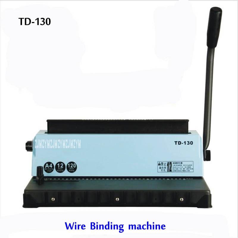 A4 Wire Binding Machine TD-130, Small Machine Big Capacity.Easy Operation