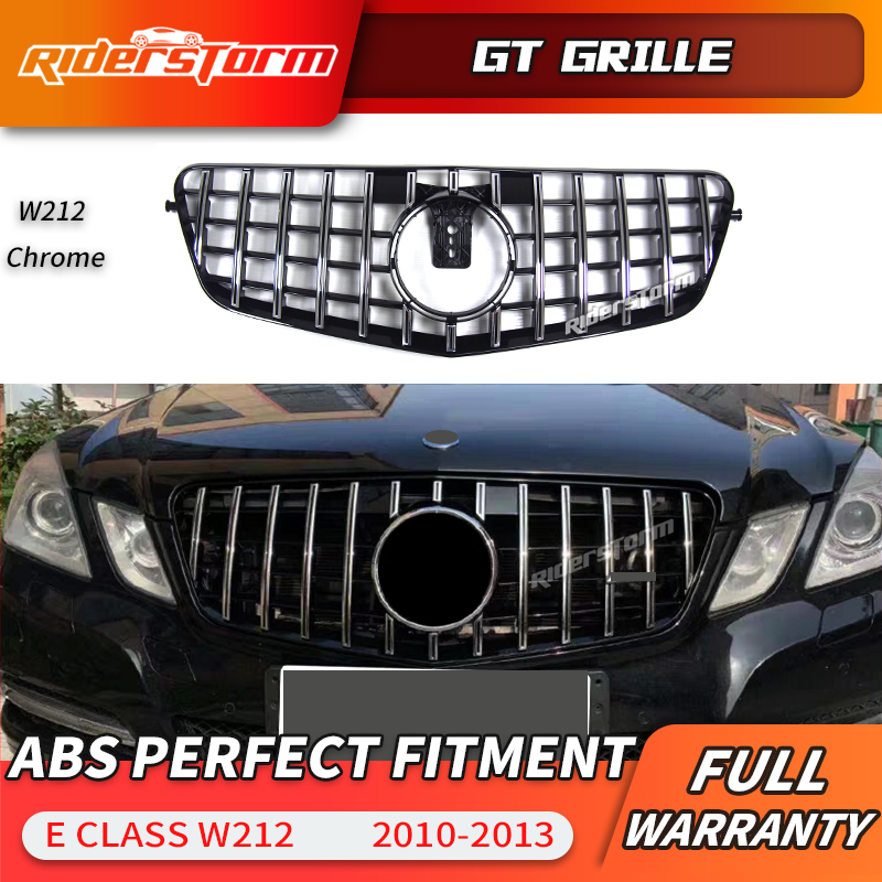 Gt grille for <font><b>W212</b></font> GT <font><b>Grill</b></font> front Grille Prefacelift For <font><b>Mercedes</b></font> E class <font><b>w212</b></font> sedan Front Racing <font><b>Grill</b></font> E320 E350 E400 C207 image