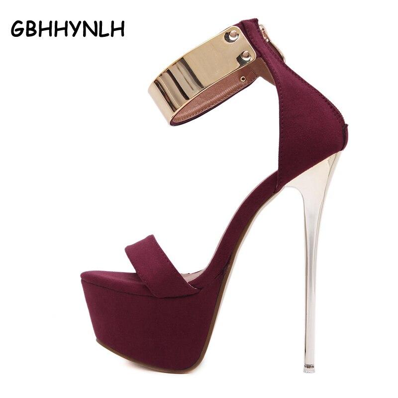 kotníkové popruhy podpatky platforma sandály party obuv pro ženy ... 502a940978