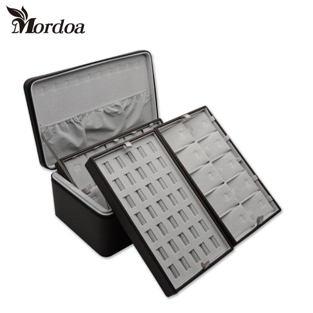Top Grade Anello Mensola di Esposizione di Gioielli pendente Della Collana Dei Monili Visualizza Show Case Organizer Jewelry Display Box