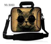 "10 ""zonnebril cat laptop schoudertas sleeve case voor samsung galaxy note 10.1/asus transformer book t100/t100ta(China)"