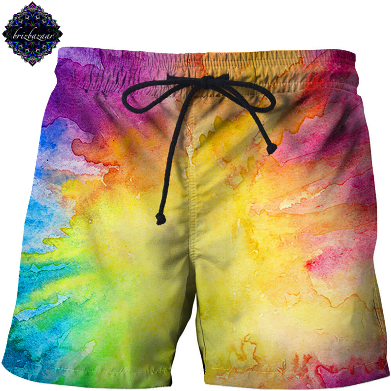 NeonDye By Brizbazaar Art 3d Beach   Shorts   Masculino Men   Short   Plage Printed   Board     Shorts   Harajuku Pant Quick Dry Pant Streetwear