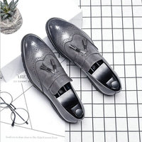 Big Size italian tassel business Formal Dress Men leather loafer formal dress flats designer office oxford shoes for men LE 39