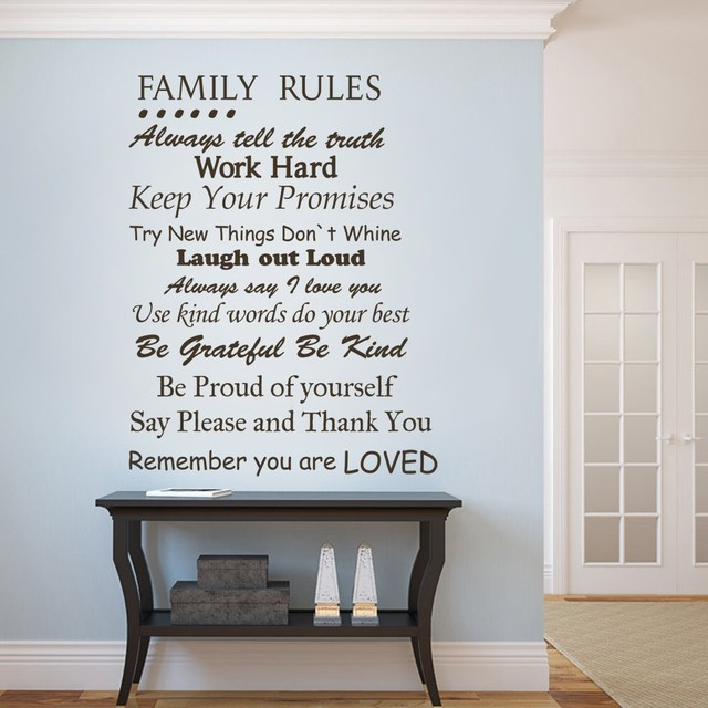 House rules quote remember you are loved vinyl wall decal wall sticker 34