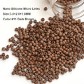3.0MM 1000Pcs NANO Ring COPPER SILICONE Beads hair extension tools Nano Micro tube Ring For Nano TIp Hair Extensions
