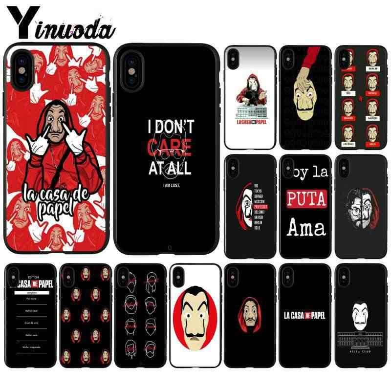 Yinuoda Spain TV La Casa de papel Light Weight Mobile Case for Apple iPhone 8 7 6 6S Plus X XS MAX 5 5S SE XR Cell Cases
