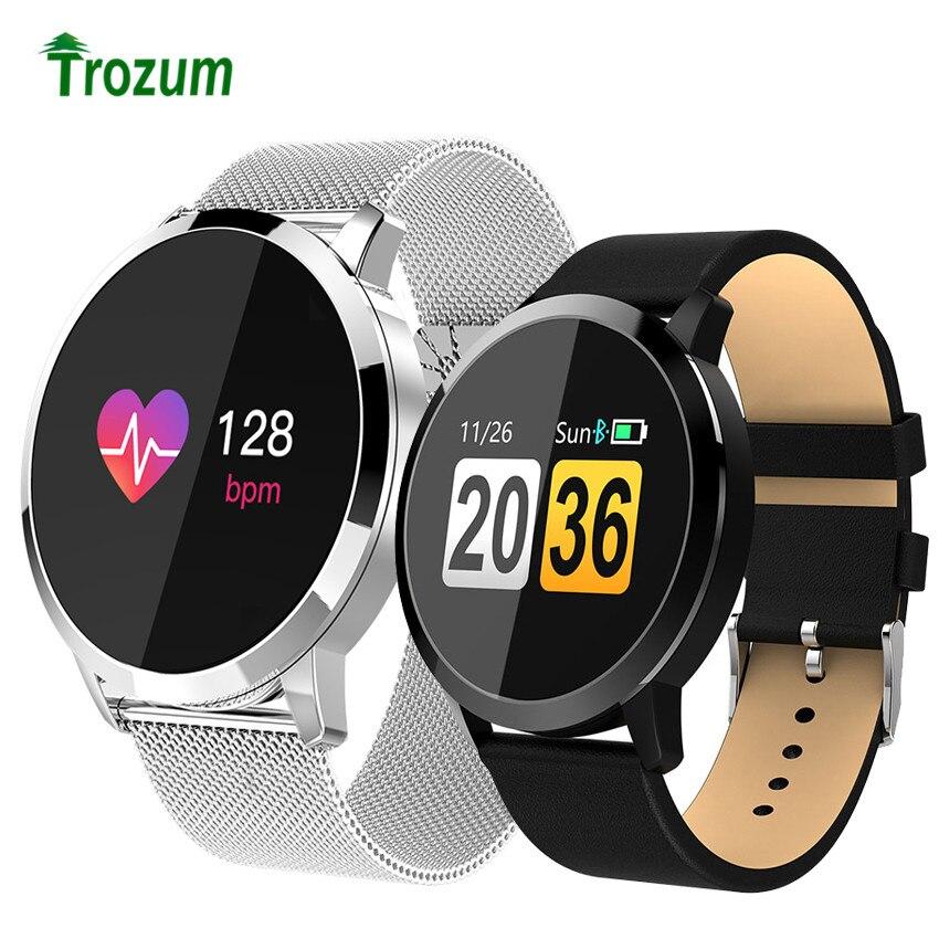 Q8 montre intelligente OLED couleur écran électronique Smartwatch mode Fitness bande Tracker fréquence cardiaque Bluetooth bracelet montres intelligentes