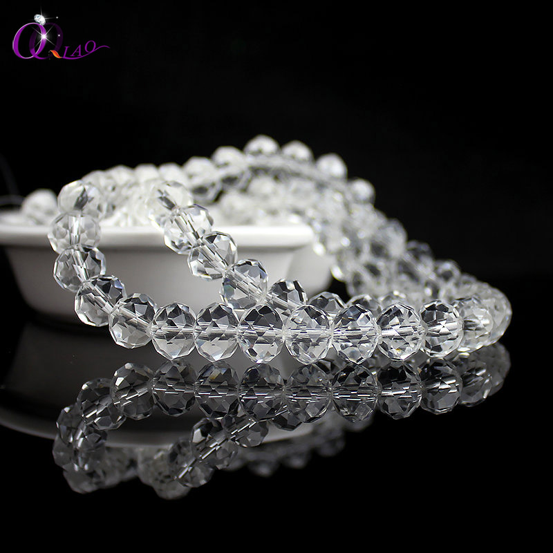 Jewelry Beads Clear Crystal Rondelle Round 12mm DIY 8mm 4mm 6mm for 10mm Fashion