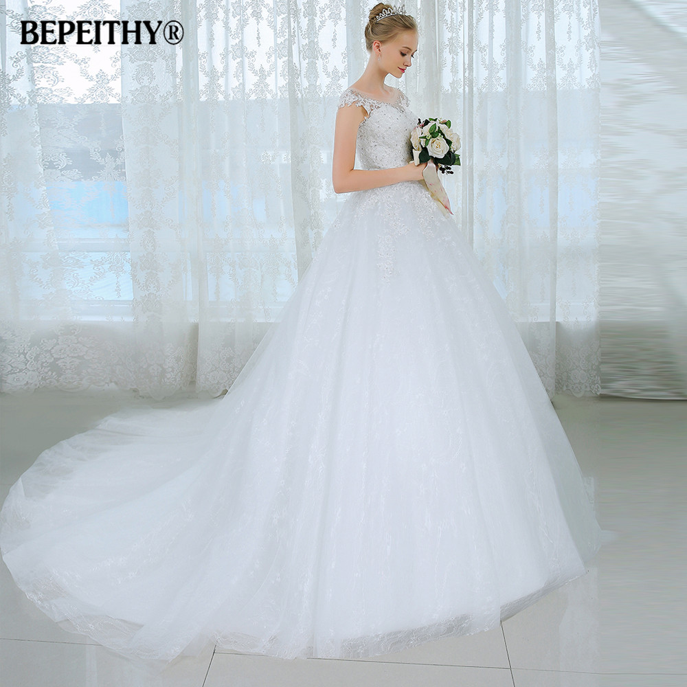Sexy Ball Gown Princess Plus Size Wedding Dress 2016 Bride Gown ...