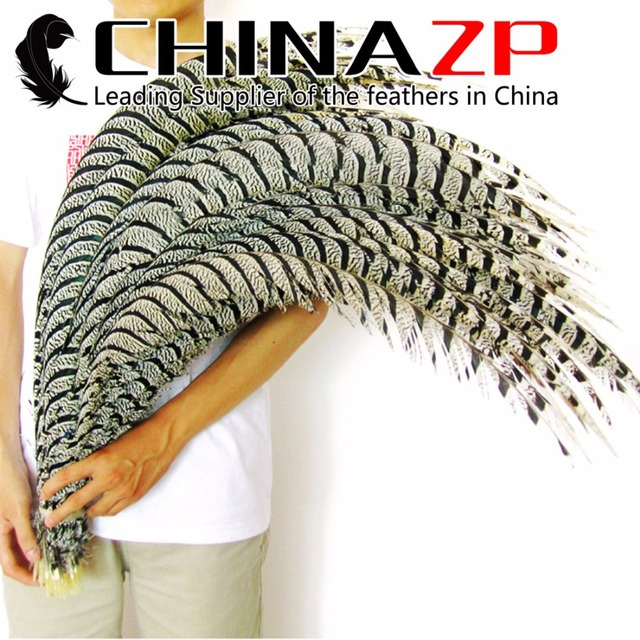 CHINAZP Factory Large Size 35 to 40inch Retails Package Well 10 piece Unique Natural Lady Amherst Center Tail Feathers for sale