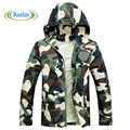 2016 New Arrival Men Fashion Camouflage Summer Tide Male Hooded Thin Sunscreen Coat Jacket Wholesale