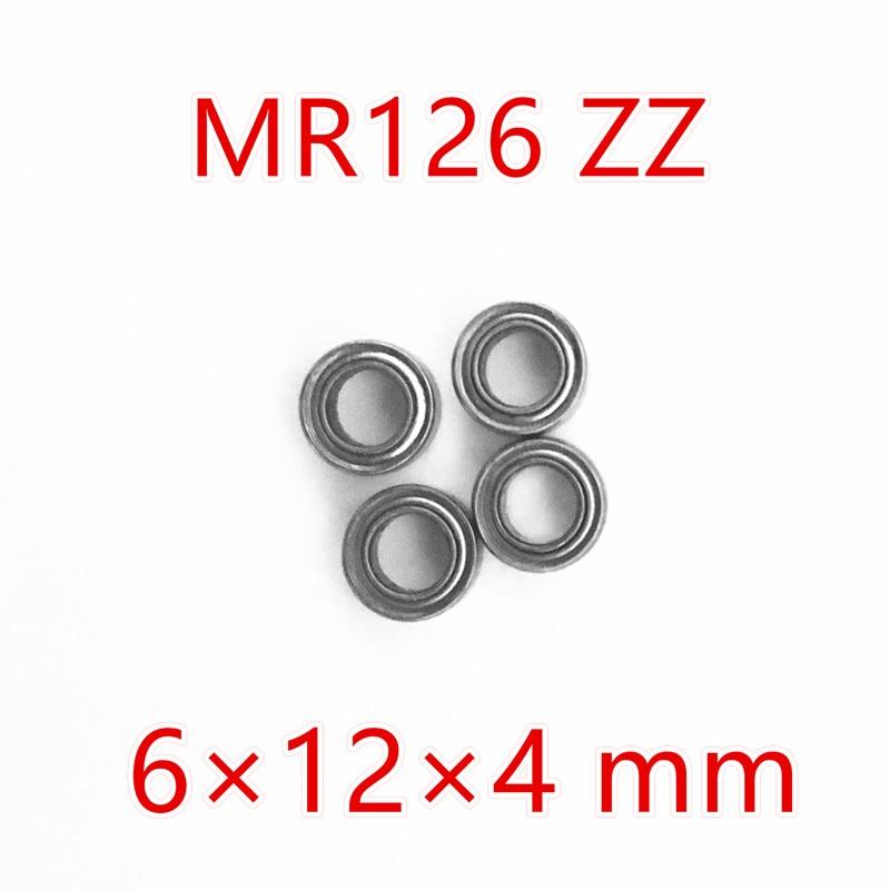 Free Shipping 10 PCS MR126ZZ Bearings 6x12x4 mm Miniature Ball Bearings L-1260ZZ  free shipping 10 pcs 684zz 684z 684 bearings 4x9x4 mm miniature ball bearings l 940zz abec5