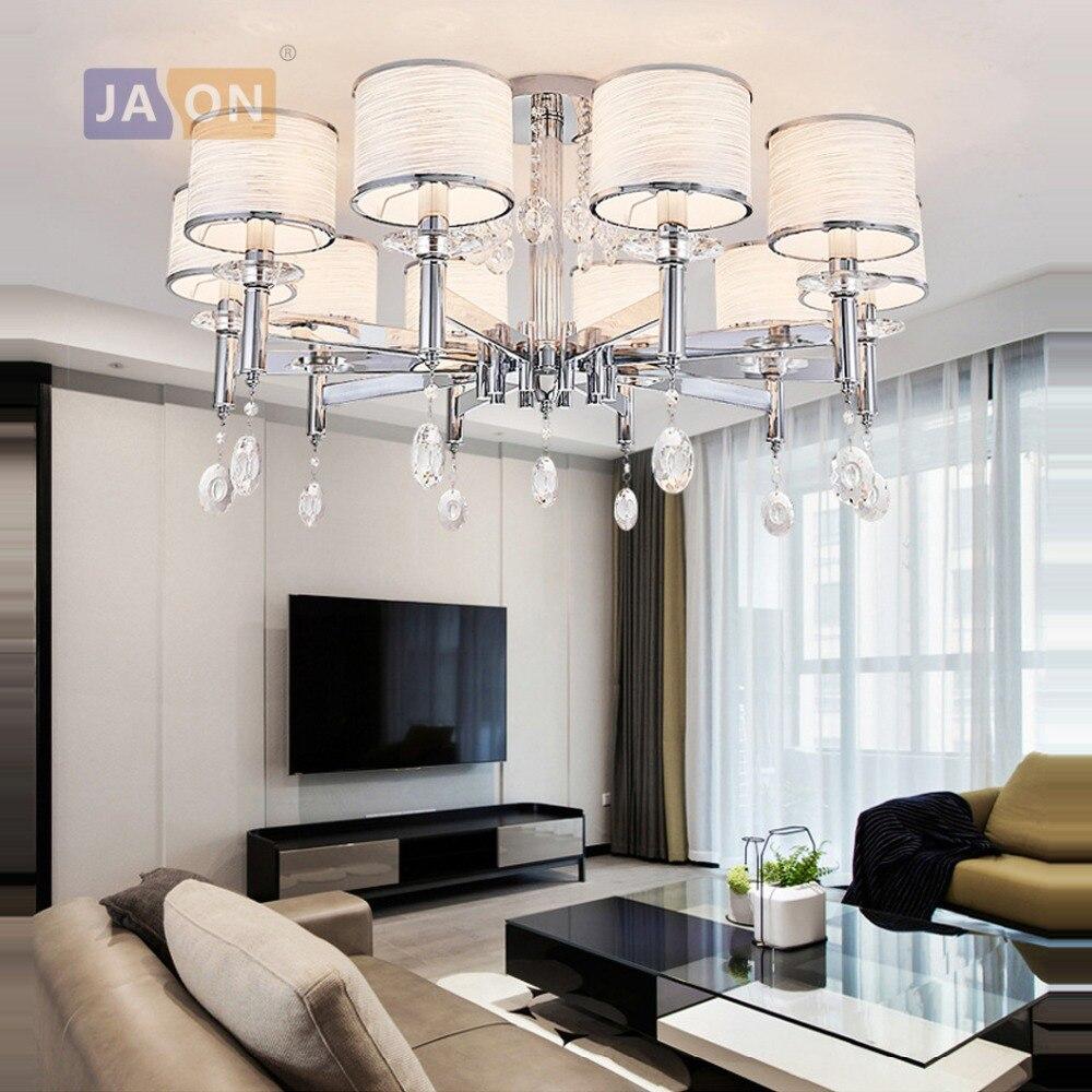 Decke Lampe Für Foyer Led Decke Licht Led Licht Led E14 Postmodernen Eisen Kristall Stoff Chrome Led Lampe Decke Lichter