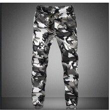 Камуфляжные военные штаны для бега, мужские чистый хлопок, мужские демисезонные штаны-шаровары, удобные мужские брюки, камуфляжные штаны для бега