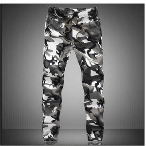 Trousers Jogger-Pants Pencil Spring Harem Military Comfortable Camouflage Mens Pure-Cotton