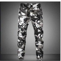 Камуфляжные военные штаны для бега, мужские 2019 чистый хлопок, мужские демисезонные штаны-шаровары, удобные мужские брюки, камуфляжные штаны...