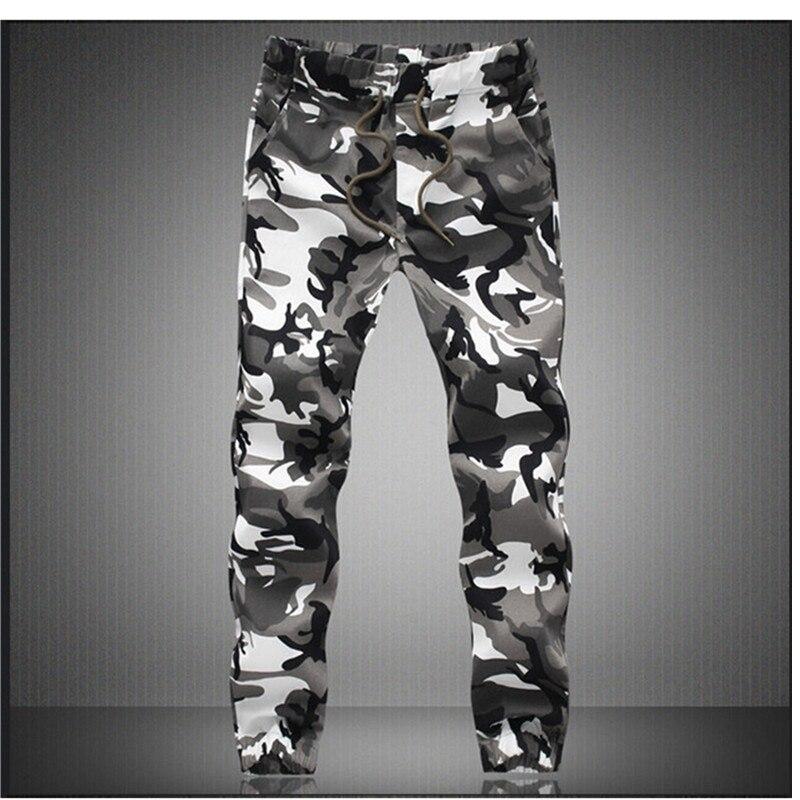 Camouflage Militaire Pantalon Jogger Hommes 2018 Pur Coton Hommes Printemps Automne Crayon Harem Pantalon Hommes Confortable Pantalon Camo Joggers