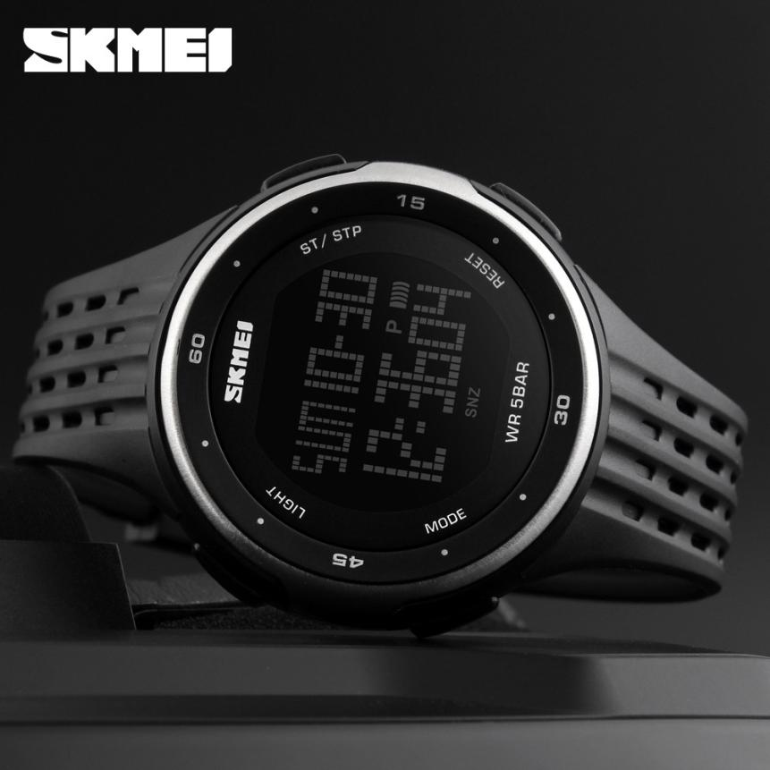 Men Sports SKMEI Brand Watches Dual Display Analog Digital LED Electronic Quartz Wristwatches Waterproof Military Watch #D
