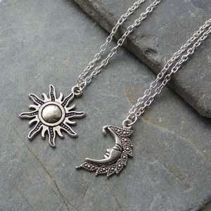 Новые серебряные лунные ожерелья, пара небесных лучших друзей, подарок для друга, длинные ожерелья и подвески для мужчин и женщин