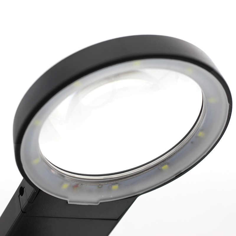 溶接 Led ライト 3X 4.5X レンズ補助クリップルーペデスクトップ拡大鏡第三手半田は修復ツール