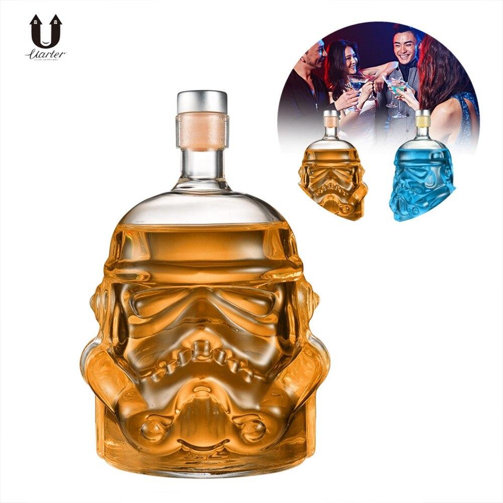 UARTER Star Wars Stormtrooper Helm Whiskey Decanter Kristall Glas Wein Decanter Flasche Hohe qualität Wein Gläser Zubehör