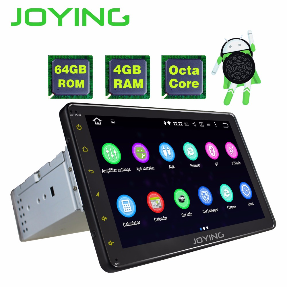 JOYING Latest 4GB RAM 64GB ROM Octa core Android 8.0 car Autoradio stereo head unit 1 din radio 8 inch full touch screen tablet american copper led lamp crystal aisle ceiling lamp corridor balcony ceiling lights storage room light fixtures home lighting