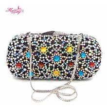 Popular Handbags Wedding Bride Evening Diamonds Women Wallets Wedding Crystal Purses Crossbody Bag Hand Bag Bolso Borsa Black