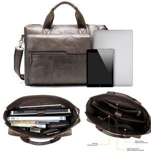 Image 5 - MVA Mode Koeienhuid Lederen mannen Aktetas 14 Inch Laptop Computer Tas Mode Business Mannen Casual Messenger Bag Mannen Handtas