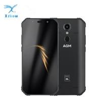 "AGM A9 JBL Co Branding 5.99 ""4G + 32G Android 8.1 โทรศัพท์ 5400mAh IP68 กันน้ำสมาร์ทโฟน Quad กล่องลำโพง NFC"