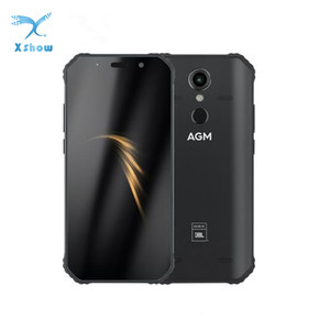 """Image 1 - AGM A9 JBL co branding 5.99 """"4G + 32G Android 8.1 wytrzymały telefon 5400mAh IP68 wodoodporny smartfon głośniki Quad Box NFC"""