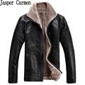 Бесплатная доставка 2017 новые зимние кожаные куртки мужчины мужской стоять воротник jaqueta де couro masculina мужчины Плюс размер M-4XL 230