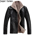 free shipping 2017 new winter leather jacket men male stand collar jaqueta de couro masculina men Plus size M-4XL 230
