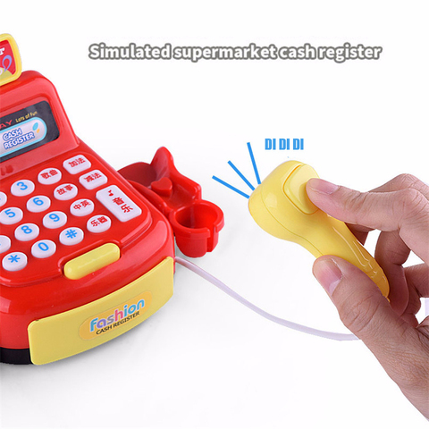 Plastic Mini Simulated Supermarket Checkout Counter Role Girls Cash Register Machine Toys Educational Pretend Play Kids Toys Lahore