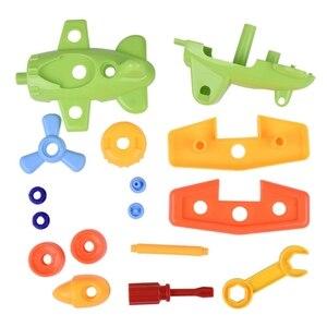 Image 3 - DIY פירוק עם מברג התאסף צעצועי ילדי רכבת מכונית צעצוע מטוס רכב אבני בניין דגם כלי חינוכי צעצוע