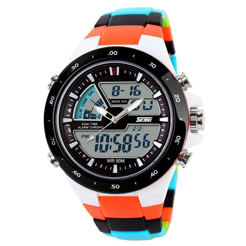 50 m relojes deportivos M impermeables para hombre Reloj Masculino 2018  caliente de silicona para hombre Reloj deportivo Reloj S a prueba de golpes Reloj  de ... 8cbab2ee756e