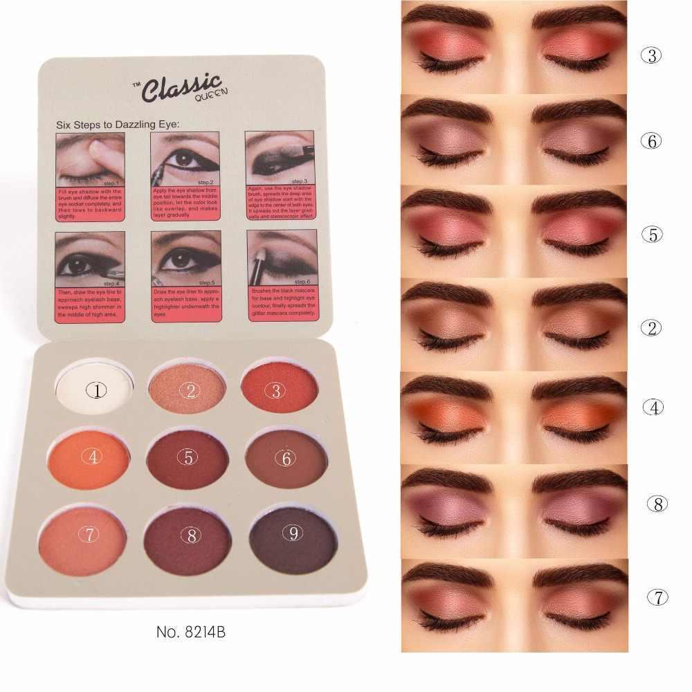 Palette de fard à paupières mat minéraux nus professionnel ombre à paupières poudre Pigment cosmétique imperméable mat maquillage fard à paupières Palette