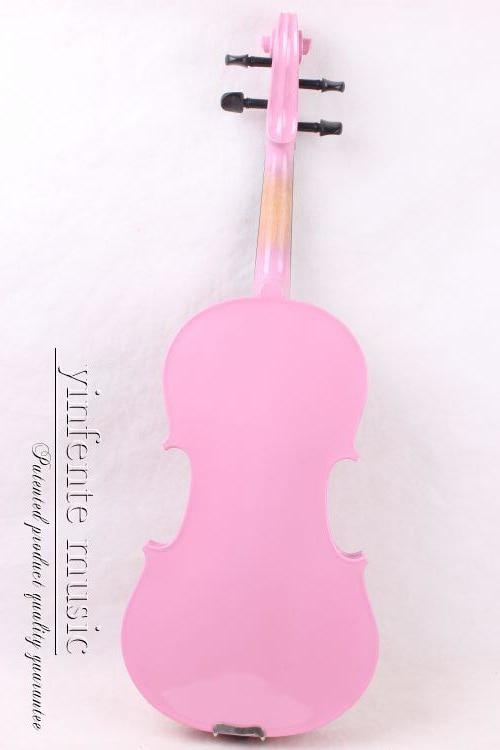 1/4 High quality EBONY STUDENT VIOLIN pink color