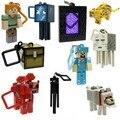 10 pcs minecraft chaveiro brinquedos 2015 Nova minecraft creeper/zumbi/steve/minecraft espada anime figuras jogo online brinquedos para adultos