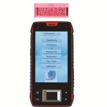 Отпечатков пальцев Читатель UHF RFID 1D 2D Лазерный Сканер Штрих-Кода Android 6.0 Беспроводной Ручной Терминал Wi-Fi Прочный Водонепроницаемый телефон NFC