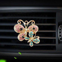 Butterfly styling car air freshener perfume clip bottle diffuser automobile