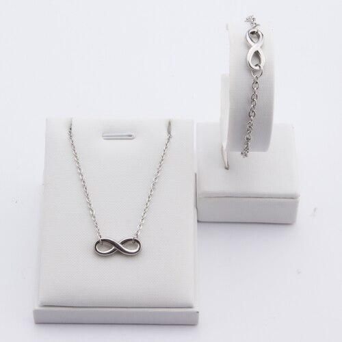 TL Link Chain Little Girl Floating Locket Glass Pendant Necklace&Earrings Jewelry Set Wishing Bottle For Children Family Love