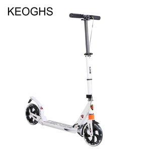 Image 1 - adult children aluminium scooter foldable PU 2wheels bodybuilding shock absorption urban campus transportation
